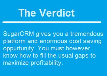 Summary SugarCRM for Enterprises