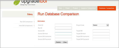 Screenshot 1 SugarCRM upgrade tool