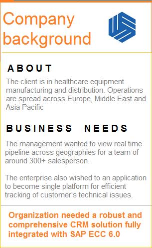 Client's background SAP Sugar Integration
