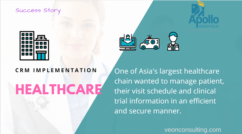 CRM healthcare implementation Apollo