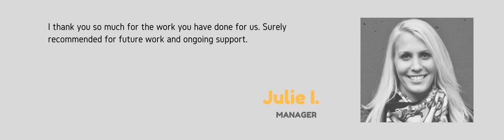 Julie I testimonial JCP