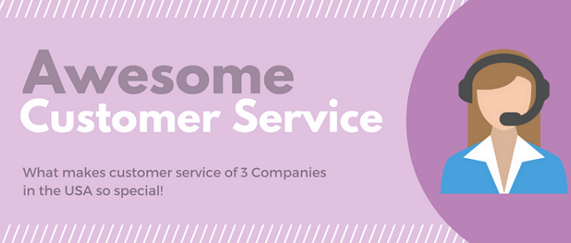 3 companies in the USA with great customer service