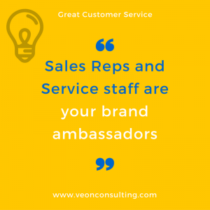Sales Reps and Customer Service make your brand popular