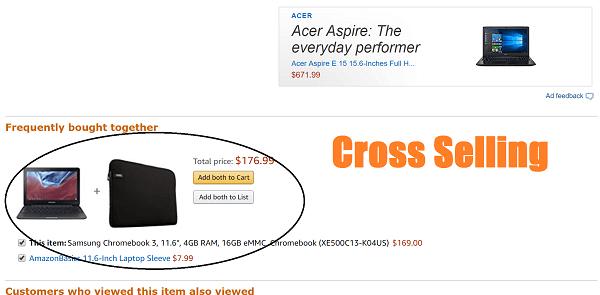 Kết quả hình ảnh cho amazon cross selling
