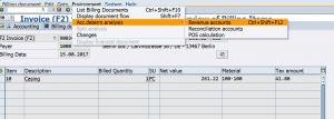 Account determination analysis