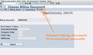 How to release accounting document manually
