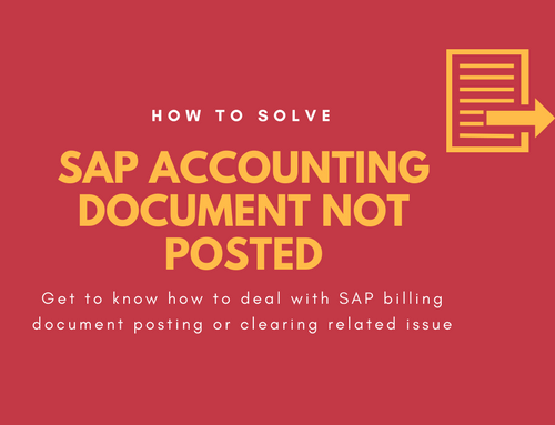 SAP Accounting document not posted or cleared – (Solved)
