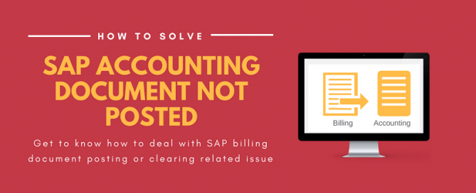 Resolving accounting document posting issue in SAP