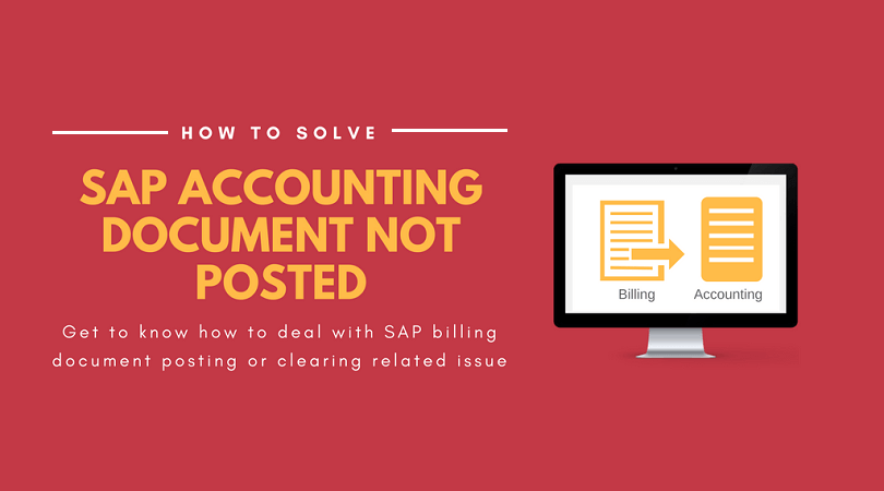 SAP Accounting Document not posted or not cleared (Solved)