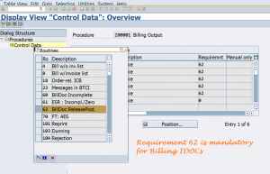 VOFM requirement for billing document