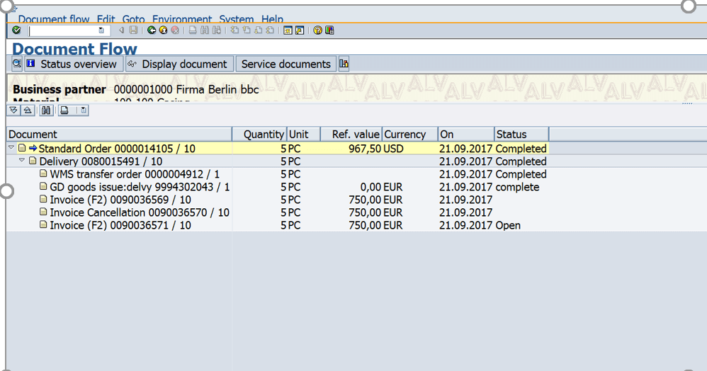 Document Flow in SAP SD