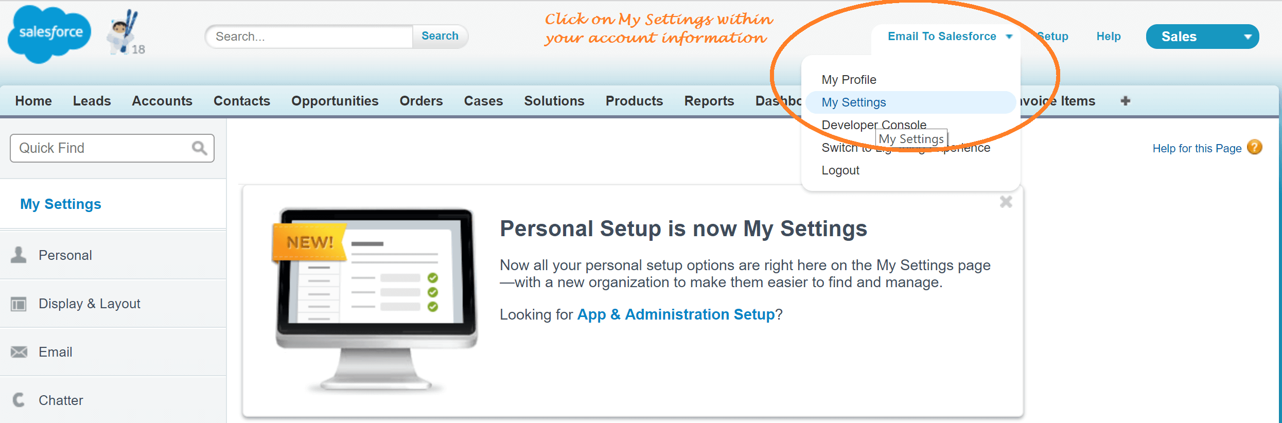 How to find email To salesforce ID