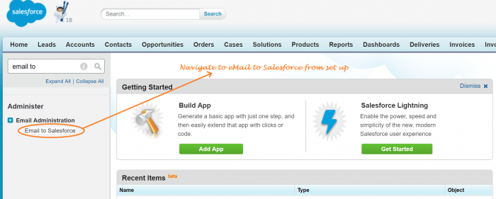 Setting up eMail to Salesforce