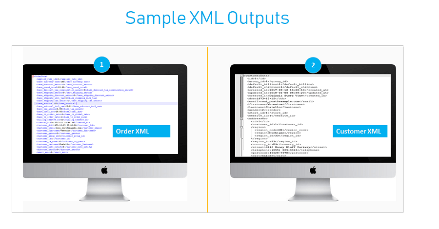 XML Samples for Customer and Orders
