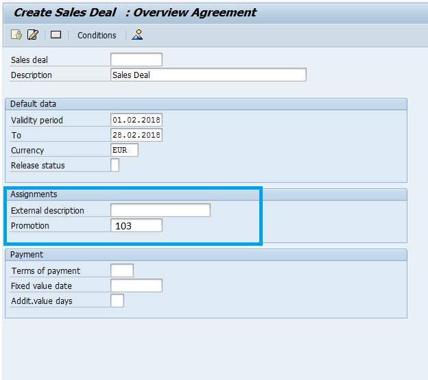 Screenshot Promotion Sales Deal
