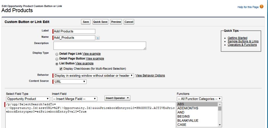 Add Product Custom Button