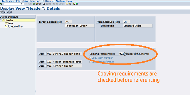 Copying Requirements in SAP