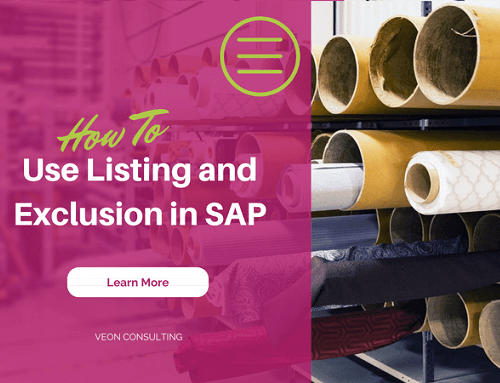 SAP Listing and Exclusion – Basics and Configuration