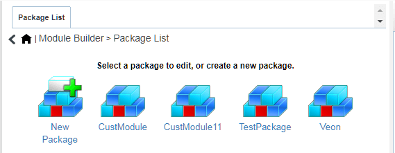 Module Builder package list