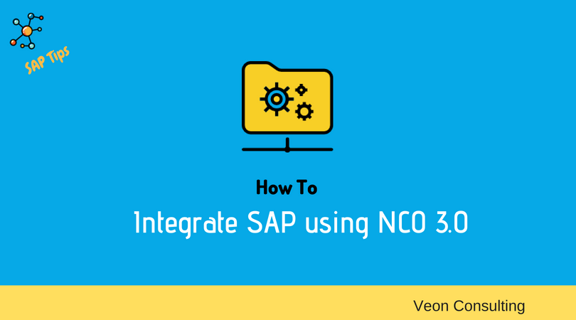 How to Integrate SAP using NCO 3.0
