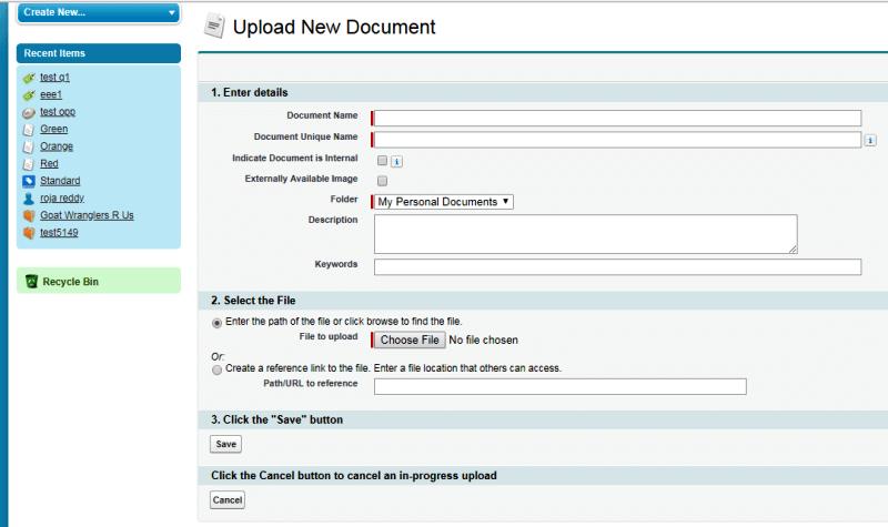 Upload new document