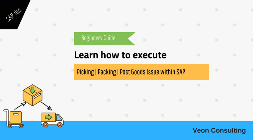 SAP User manual for picking, packing & post goods issue