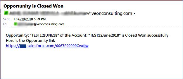 Email Alert triggered