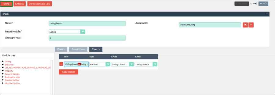 Screenshot of save changes