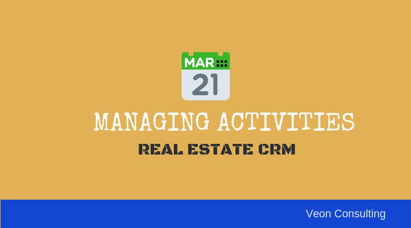 Managing real estate activities