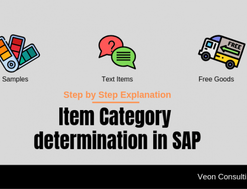 SAP Item Category and its determination