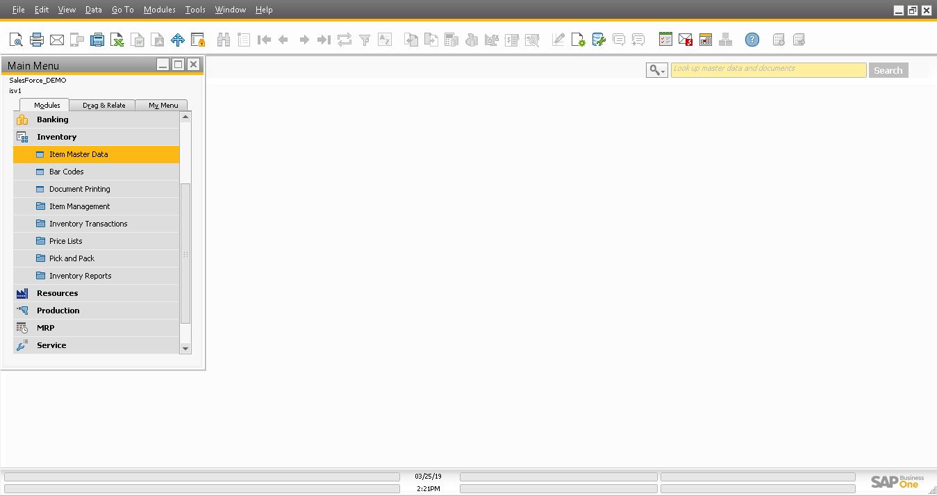Screenshot of Add a New Item master in SAP B1