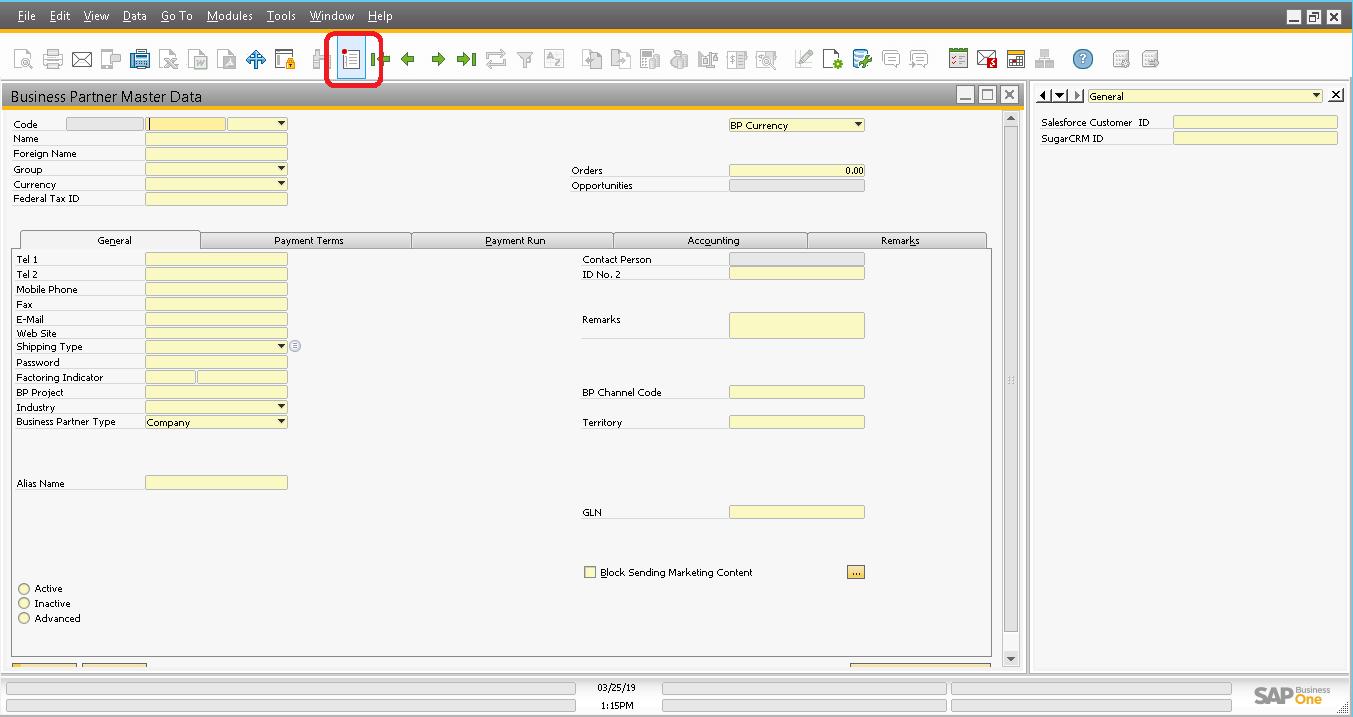 Screenshot of B1 GUI