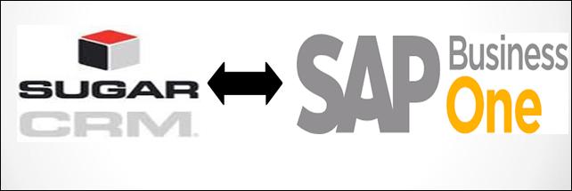 Screenshot of contact integration between SAP B1 and SugarCRM