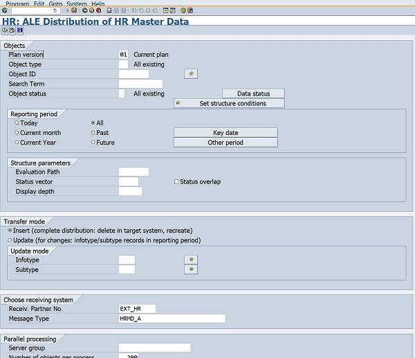 Sending HR personnel master using PFAL