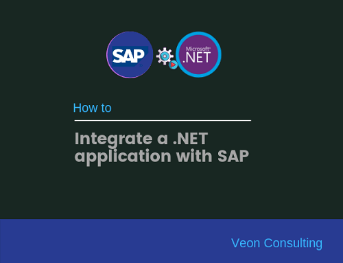 How to integrate a .NET application with SAP
