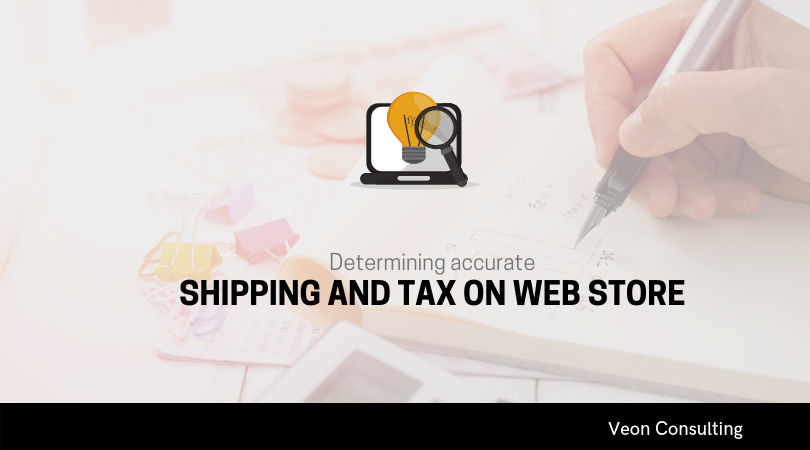 Accurate shipping and tax Web commerce