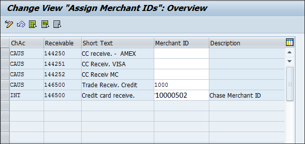 Assigning merchant ids to respected accounts