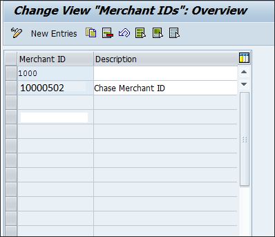 Maintaining merchant Id in SAP