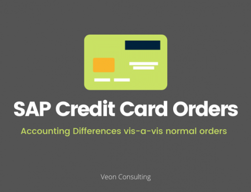 Accounting differences between a credit card normal order within SAP