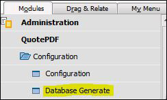 Screenshot of QuotePDF Configuration