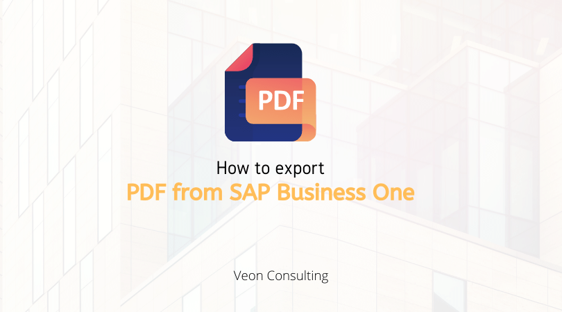 SAP Business One PDF export - Banner image