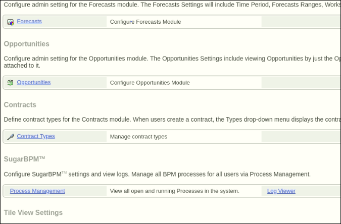 Screenshot of navigating to Contract type in Admin panel