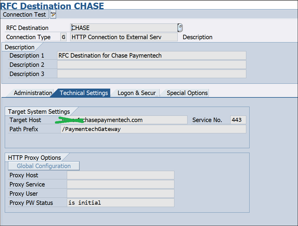 Screenshot of RFC Destination Chase