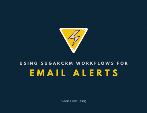 Defining workflow in SugarCRM to trigger eMail alerts
