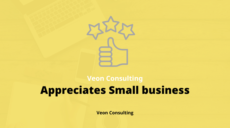 Veon Consulting appreciates small business