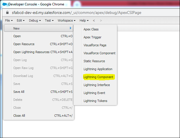 Creating Lightning Component in Salesforce
