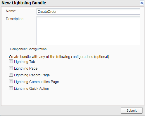 Creating New Lightning Bundle in Salesforce IDE