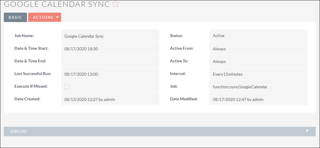 Google Calendar Sync Scheduler