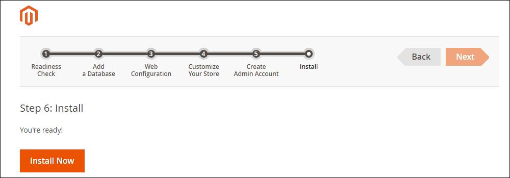 Magento ready to install